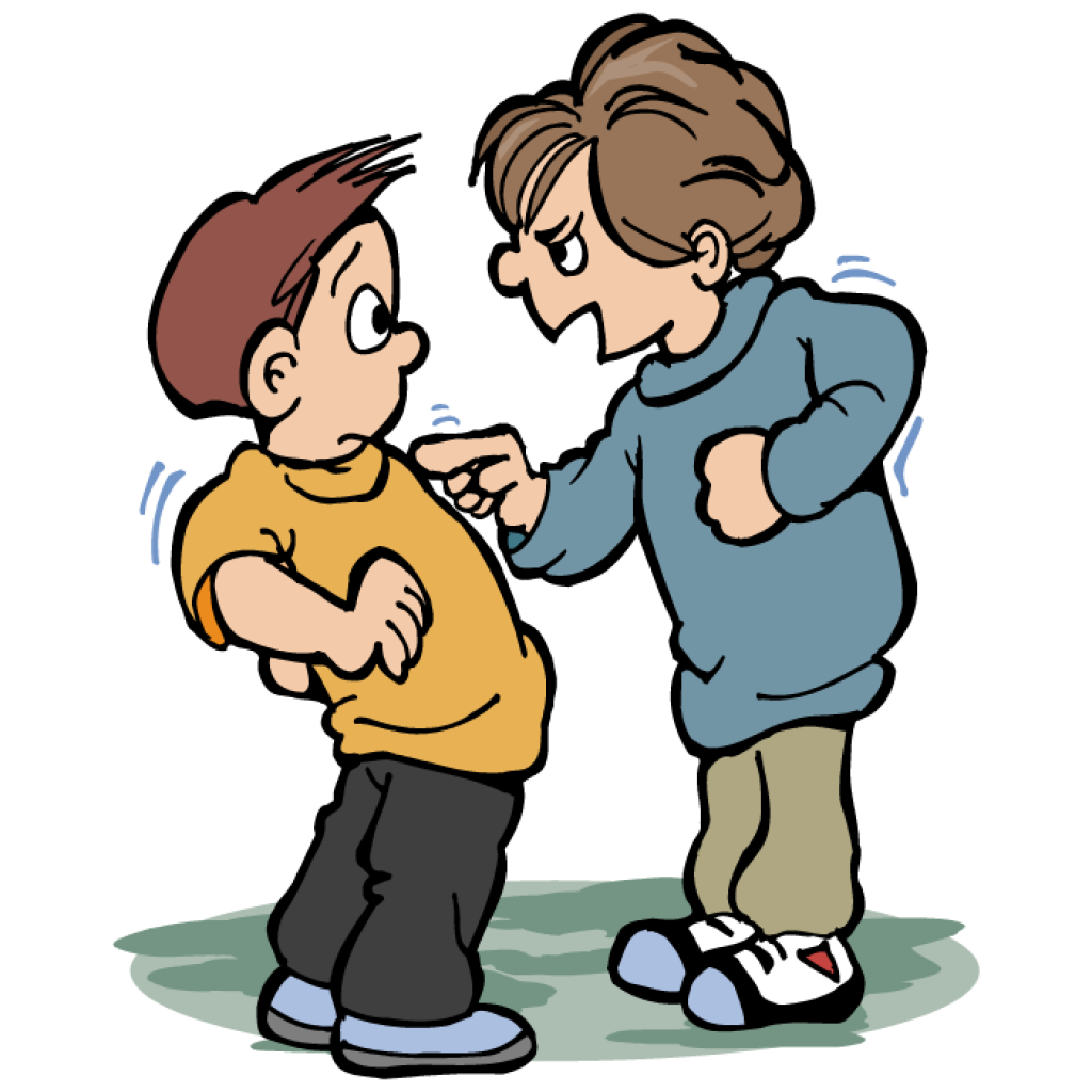 Verbal vector and clip. Words clipart bullying