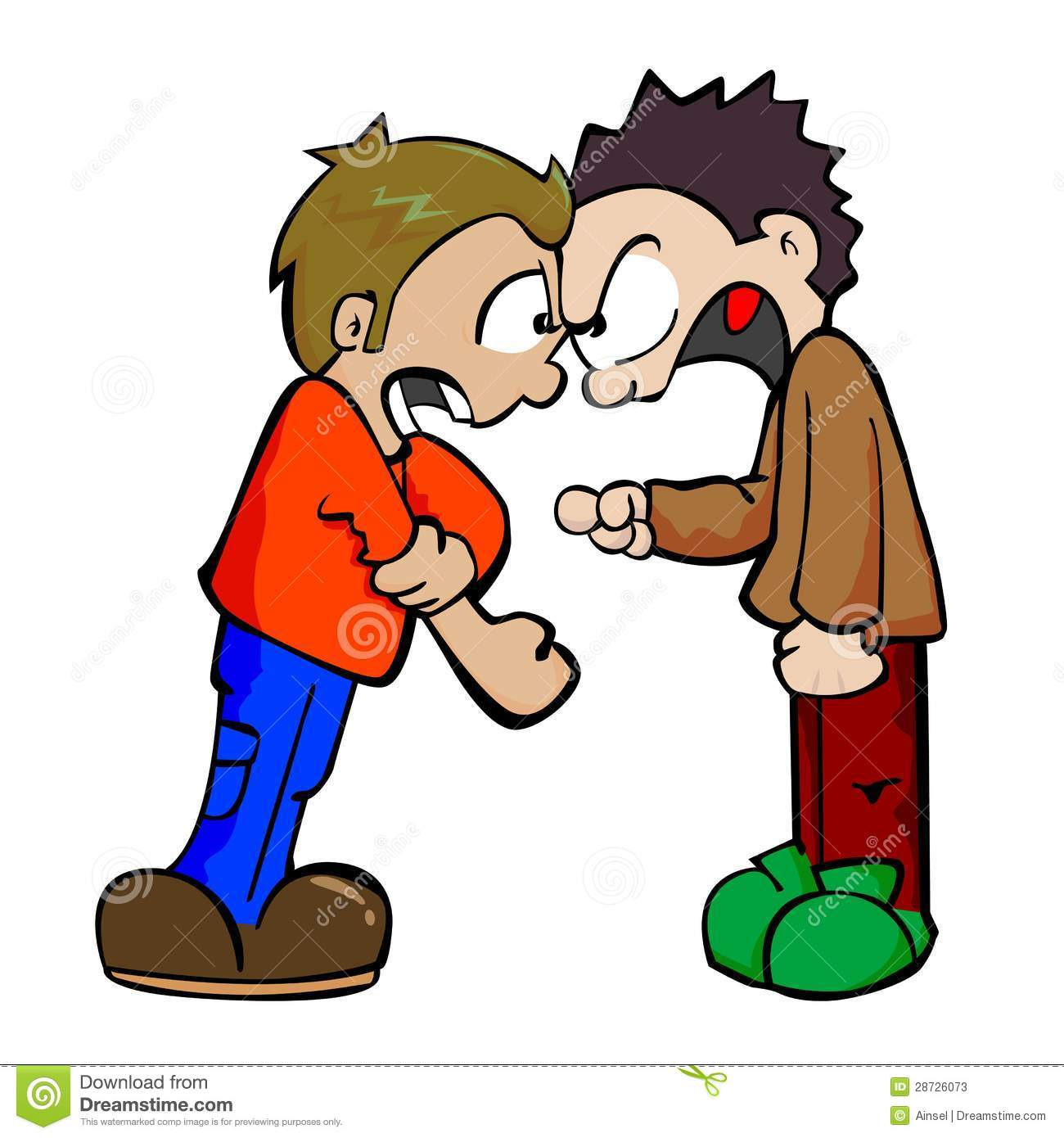 No . Fighting clipart