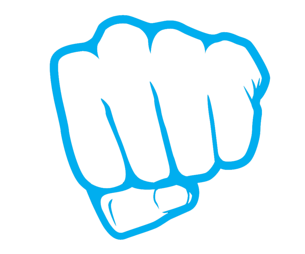 Punch hand tweb. Fist clipart boxing