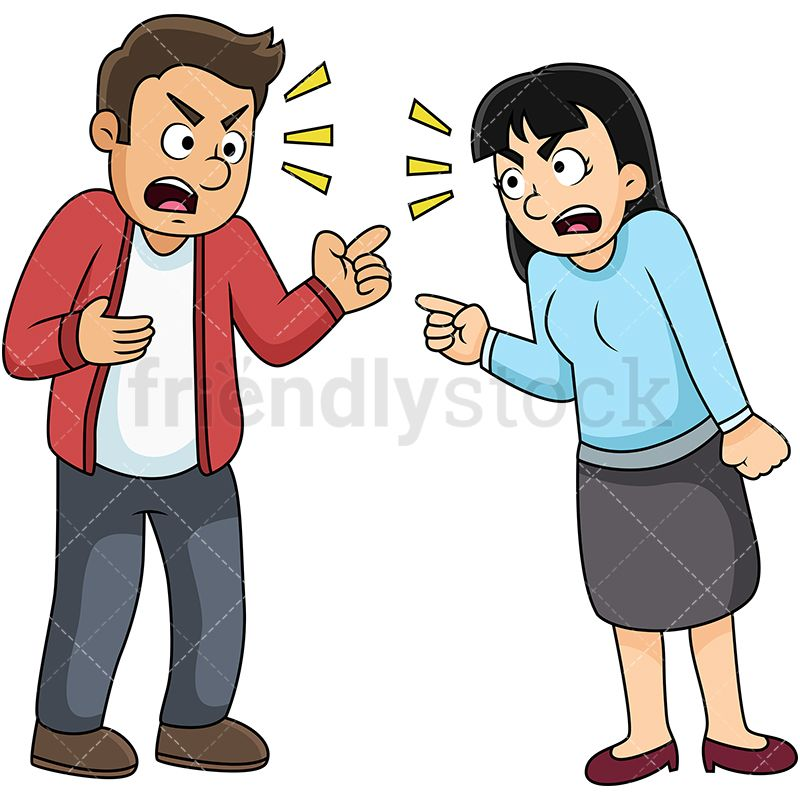 Yelling clipart argument. Couple fighting and at