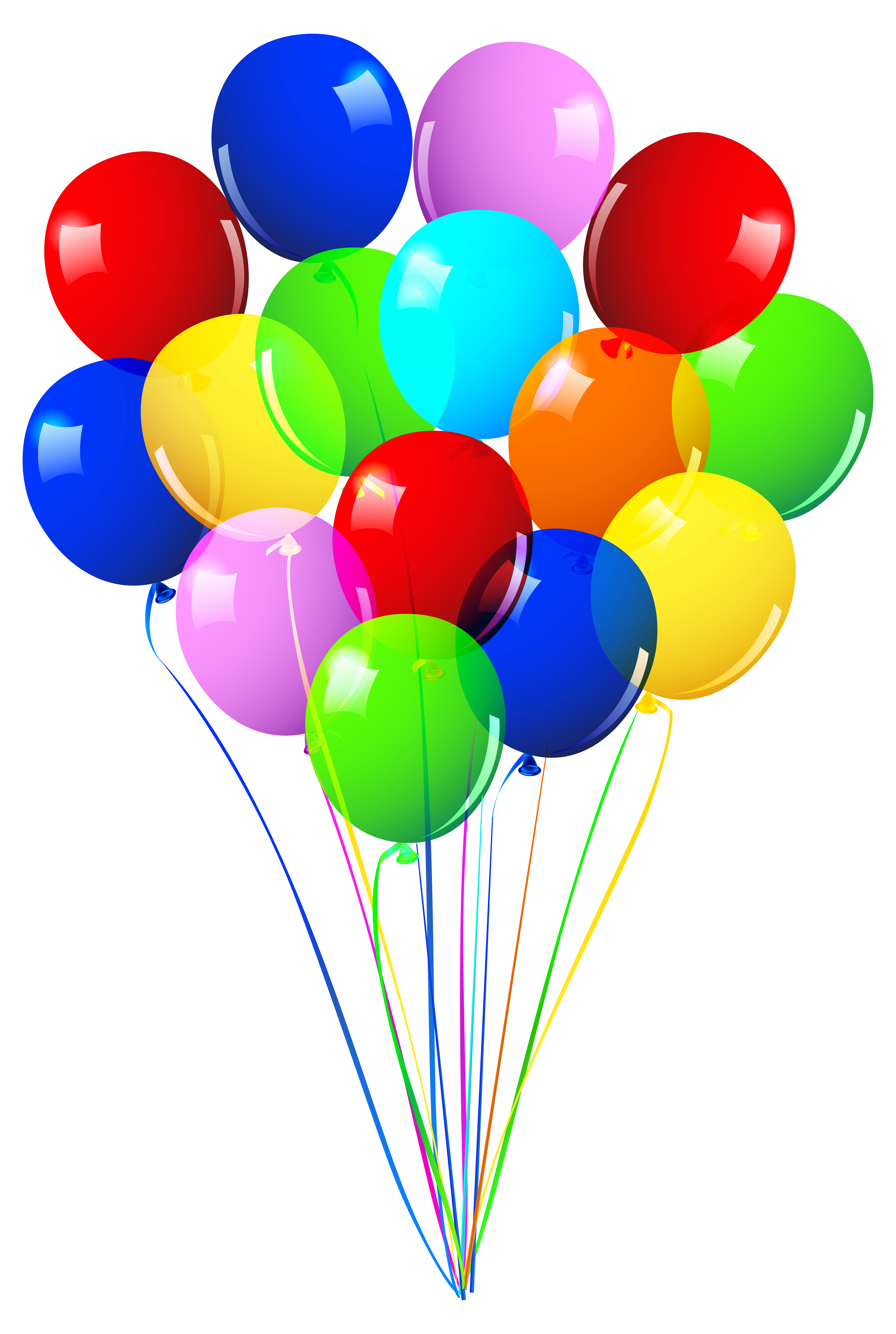 Water balloon toy fight. Streamers clipart party favor