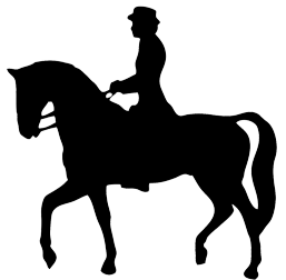Horses clipart equine. Horse silhouette standing rider