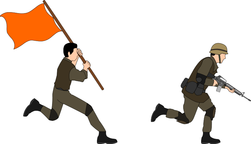 Soldiers clipart solider. Charging medium image png