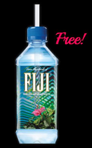 Free water straw . Fiji bottle png