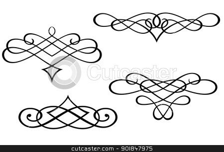 Filigree clipart. Clip art monograms and
