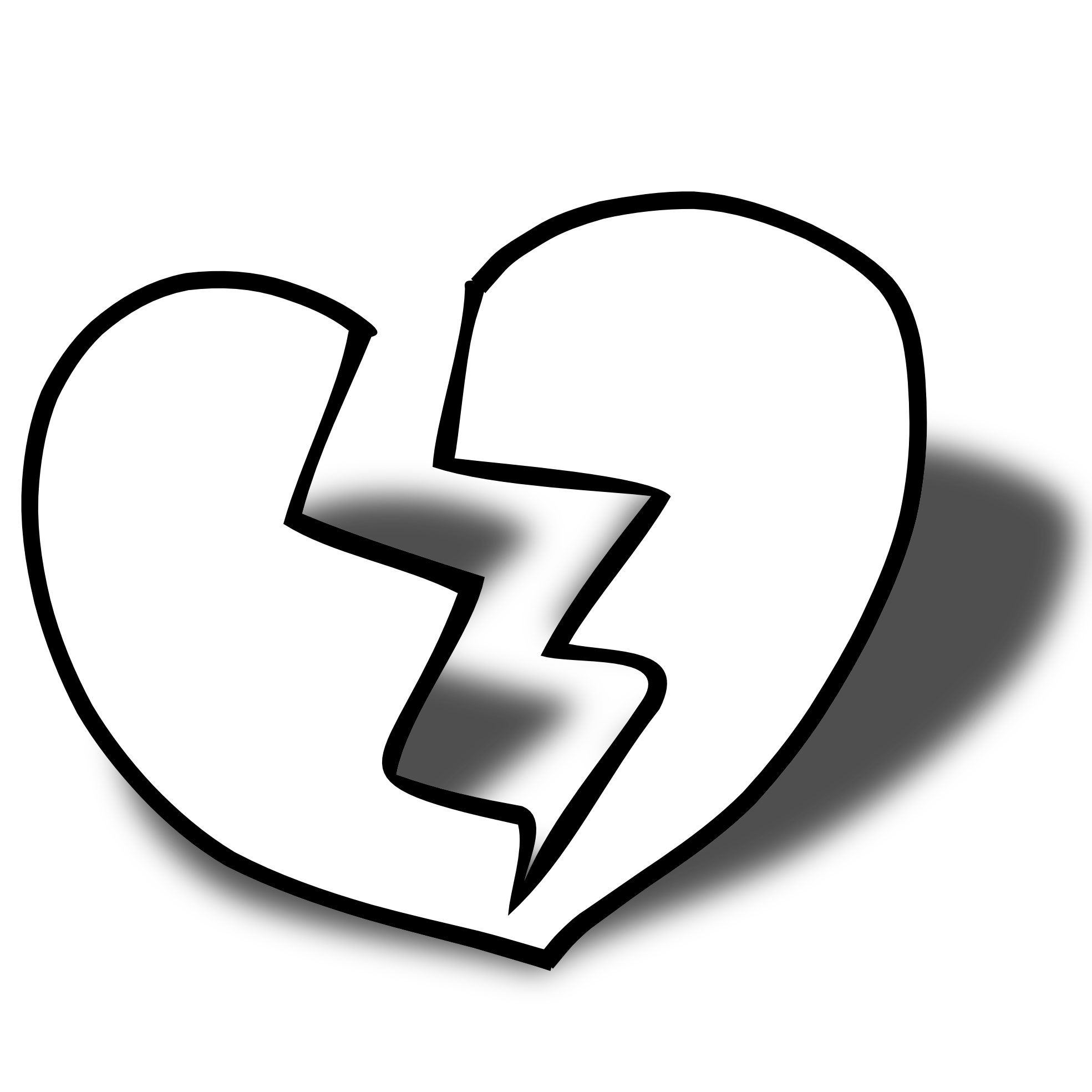 Free black and white. Heart clipart science