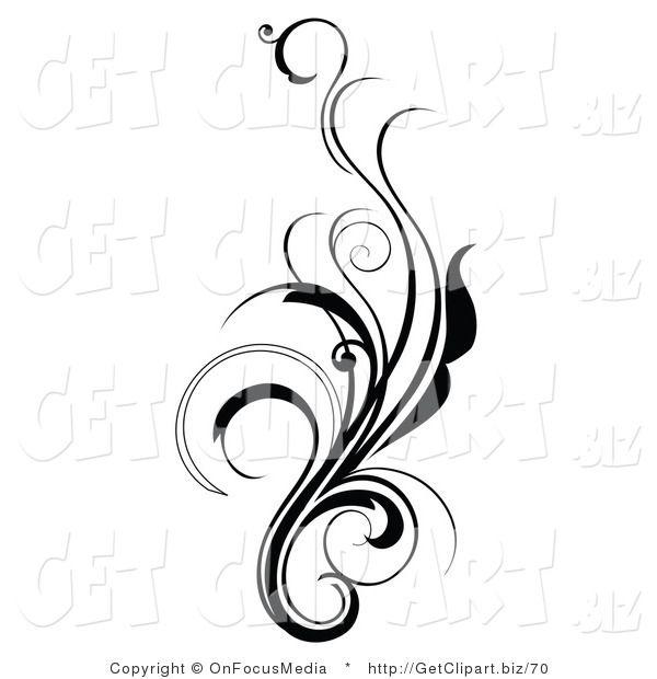 Elegant swirl designs clip. Filigree clipart curly