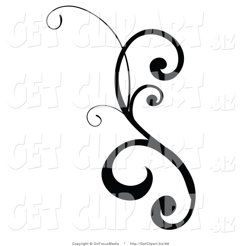 Free scroll designs download. Filigree clipart curly