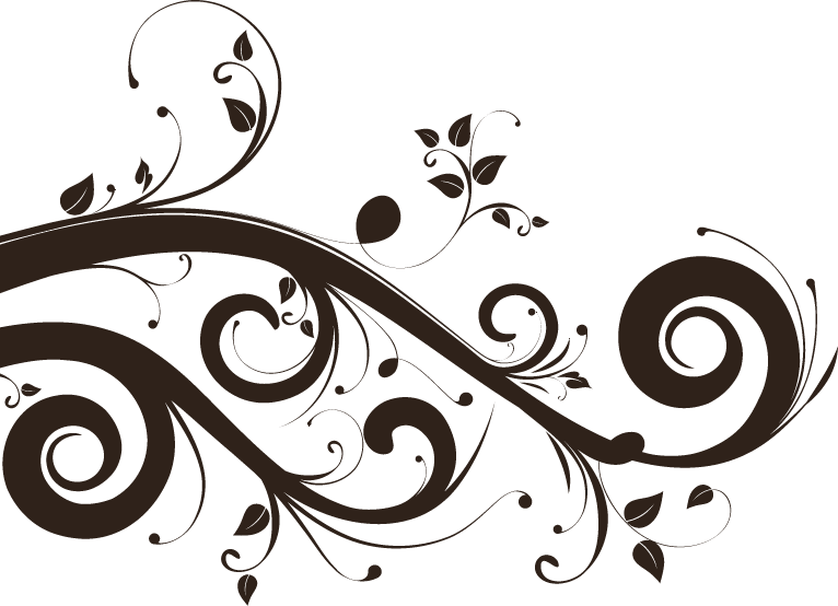 Psd emplate floral swirls. Lace clipart swirl