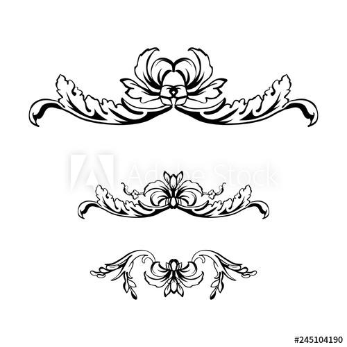 Filigree clipart decorative scroll. Flourish vector text dividers