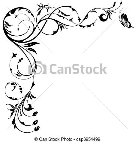 Vector clip art illustrations. Filigree clipart desgin