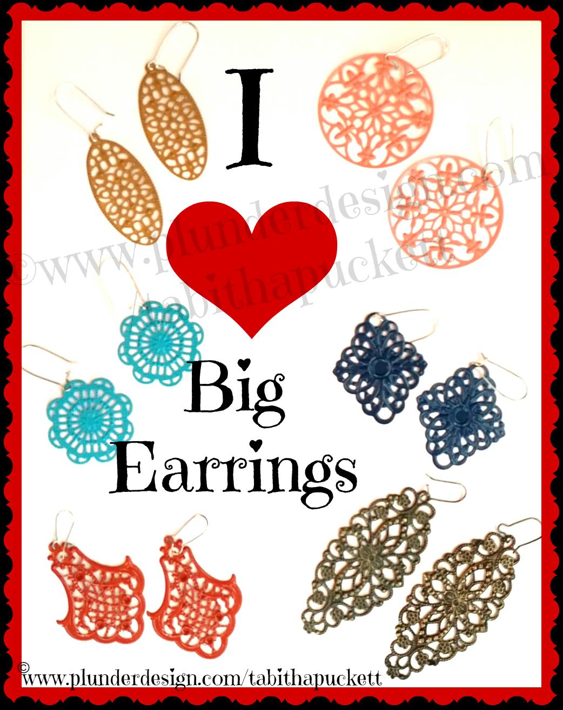 I love big earrings. Filigree clipart filigree box
