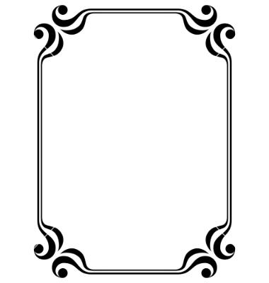 Filigree clipart filigree square.  vector borders image