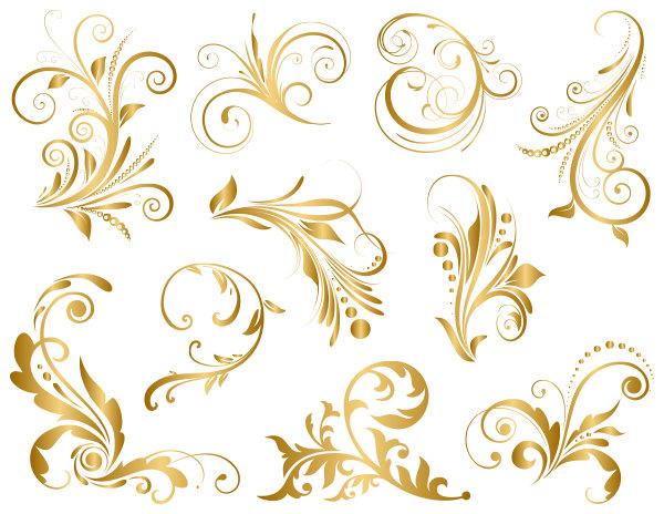 Flourishes clipart gold. Free flourish cliparts download