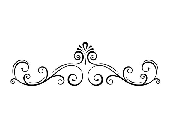 Filigree clipart french scroll. Page border svg swirl