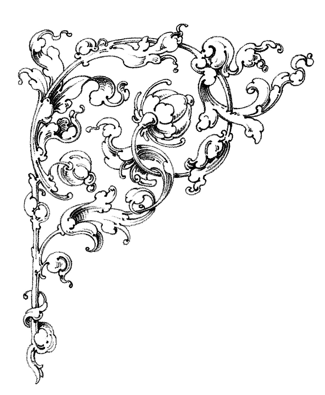 Free country cliparts download. Filigree clipart french scroll