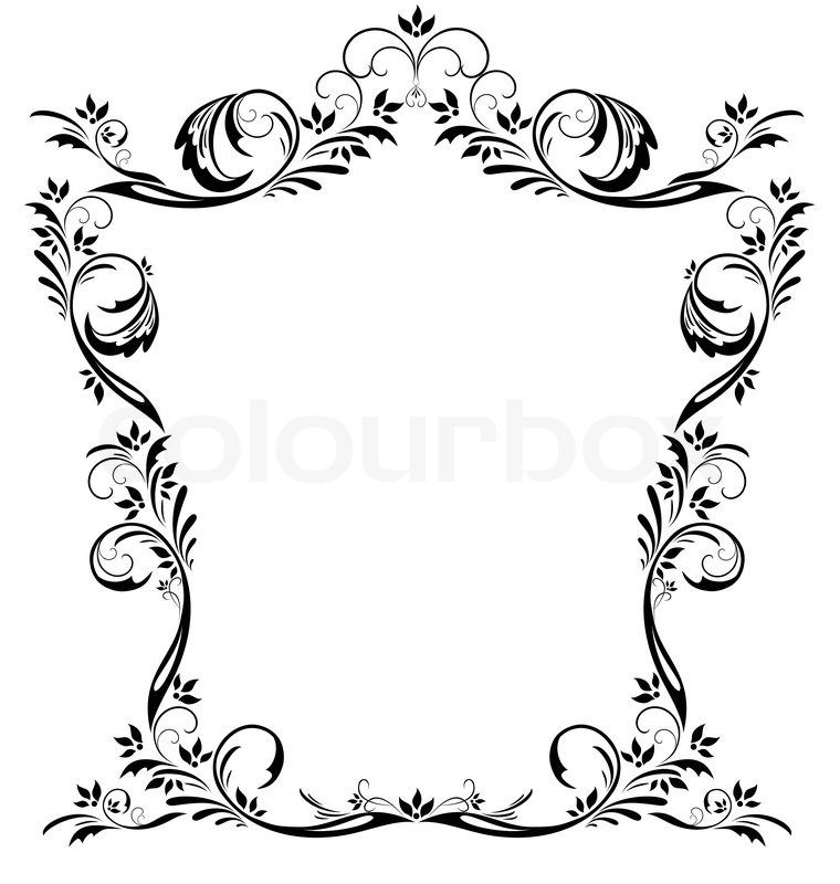 Vintage french google search. Filigree clipart large border