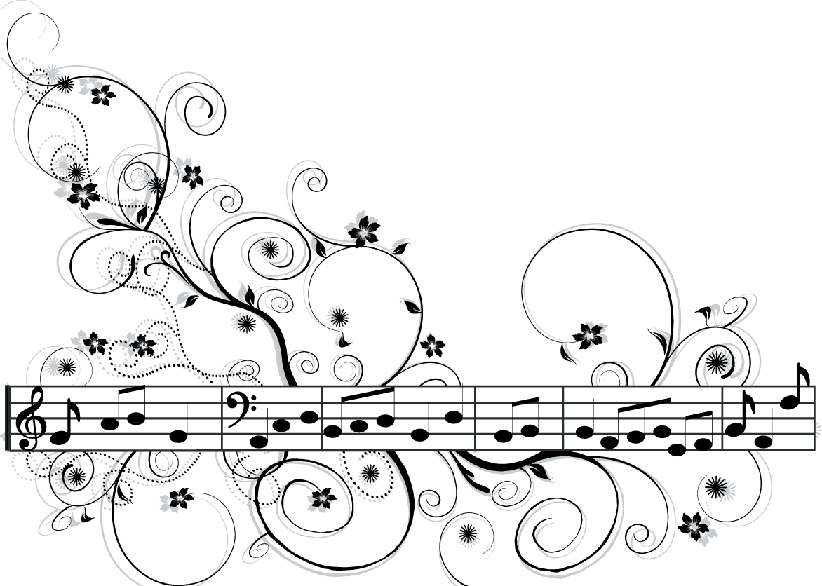 Ch b clip art. Filigree clipart music