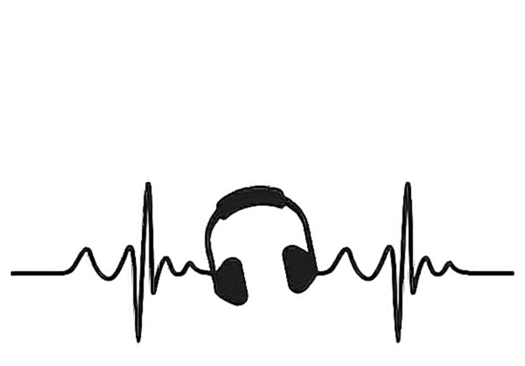 Heartbeat clipart music. Line musical notes aesthetic