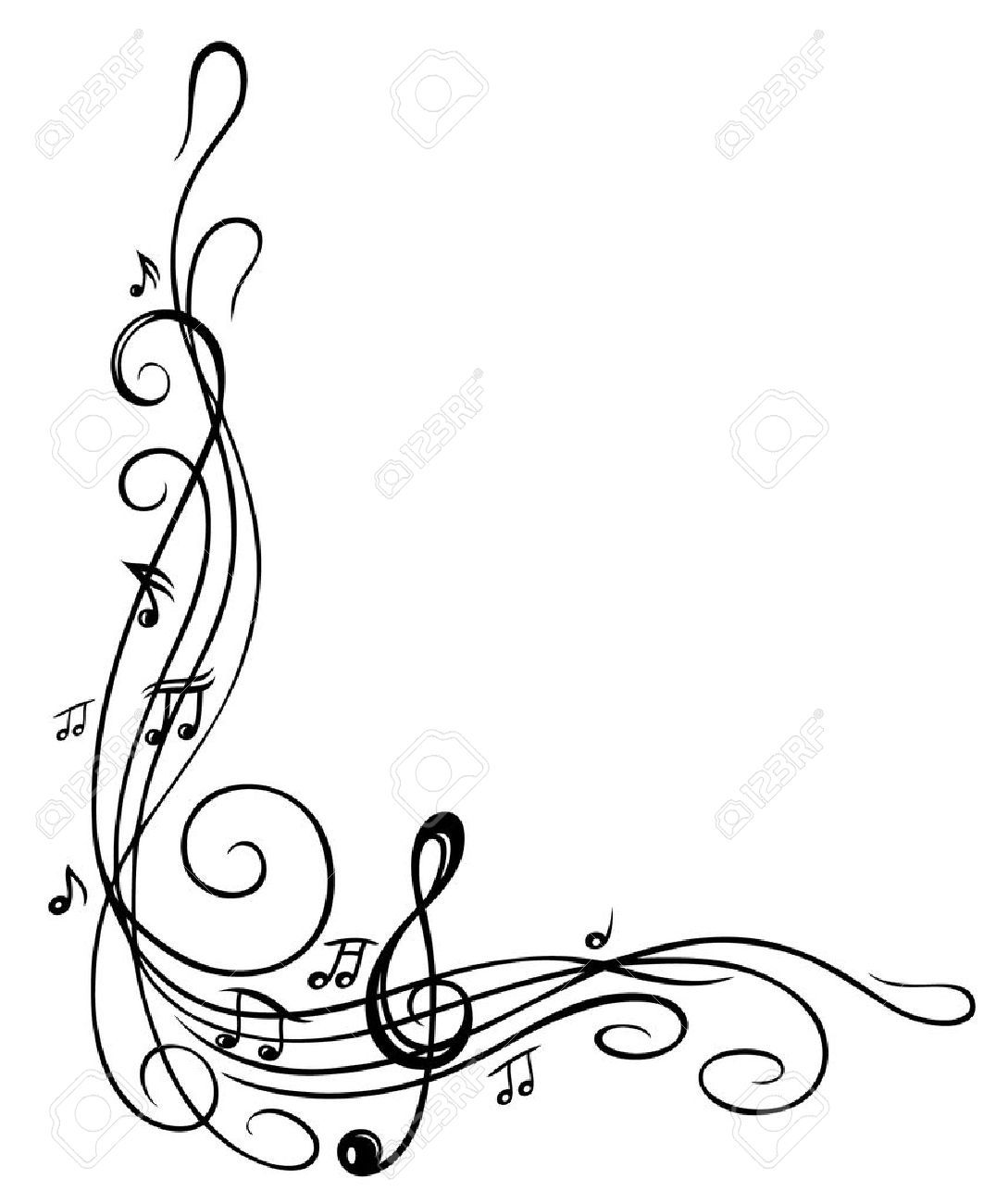 awesome circular note. Filigree clipart music