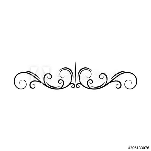Filigree clipart page divider. Flourish decorative scroll border