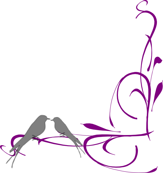 Swirly design free download. Filigree clipart purple