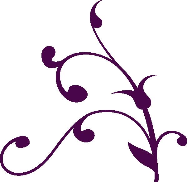 Filigree clipart purple. Swirl clip art at