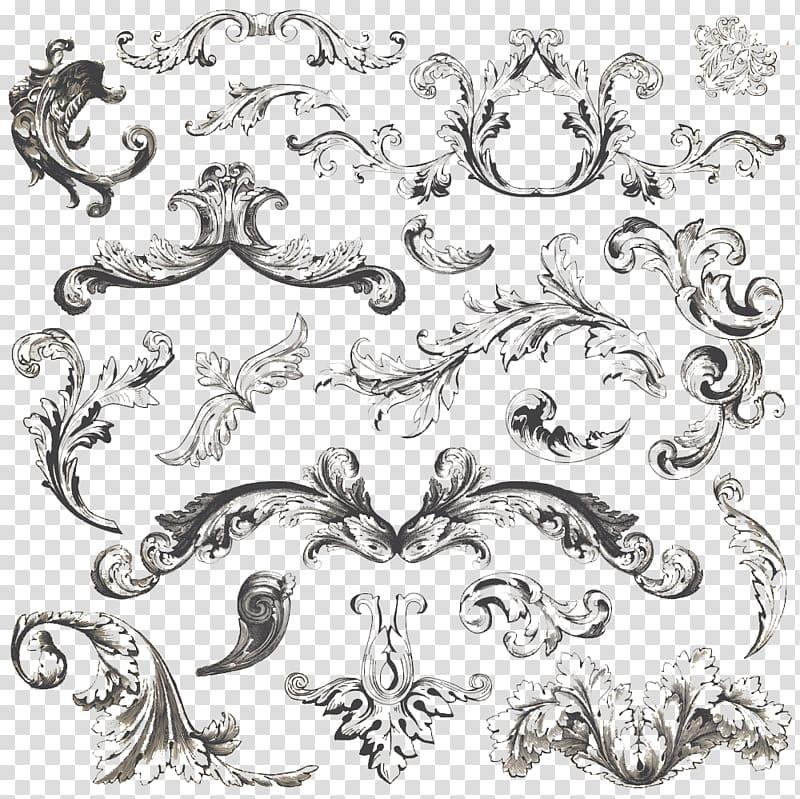 Filigree clipart royal filigree. Black floral illustration vintage