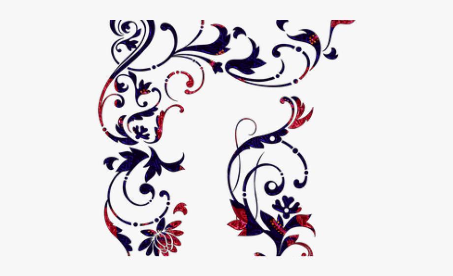 Filigree clipart small scroll. Border filigrana stencil free