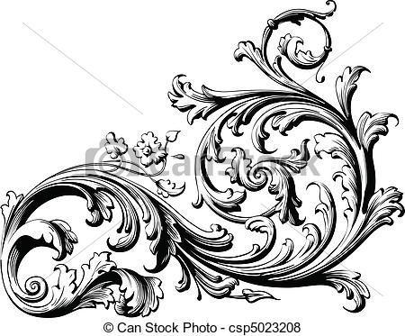 Filigree clipart small scroll. Victorian clip art graph