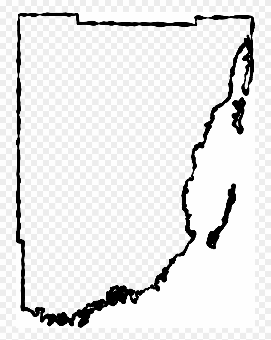 Fancy squiggle outline of. Florida clipart line