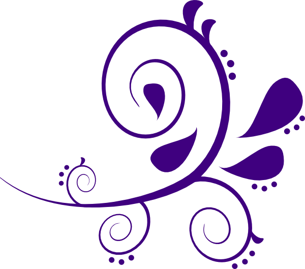 Flour clipart vector. Purple and white swirl