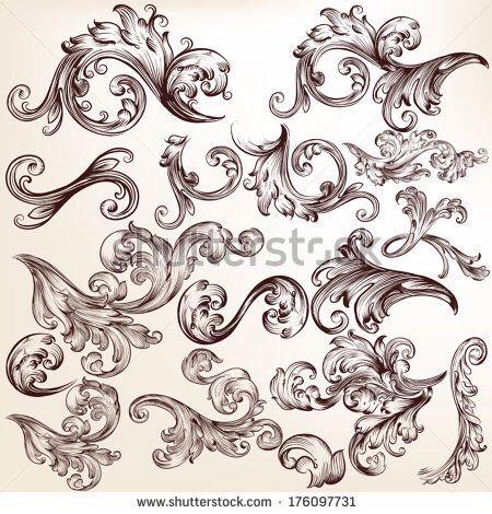 Lace tattoo . Filigree clipart victorian