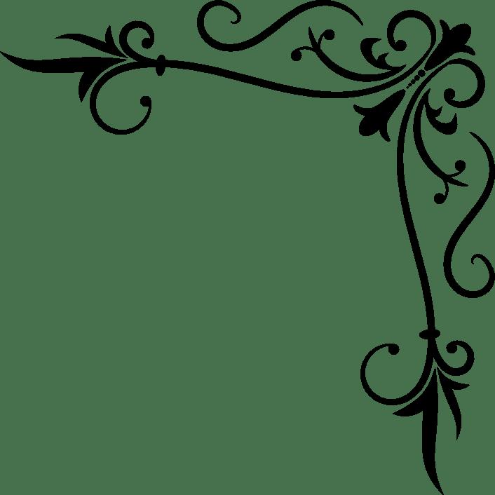 Filigree clipart vine. Corner gallery by robert