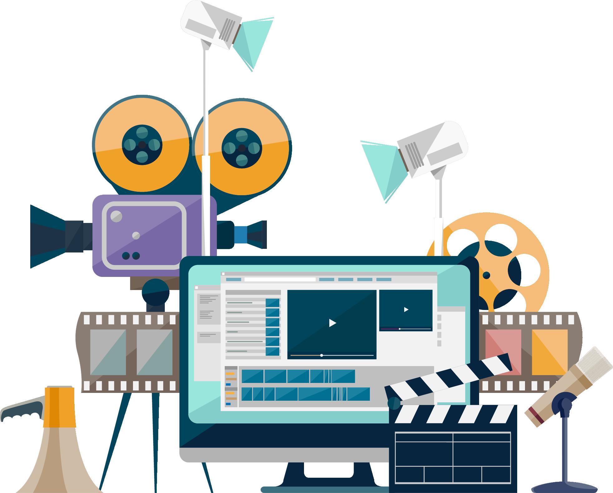 Services kent visual slides. Film clipart audio video