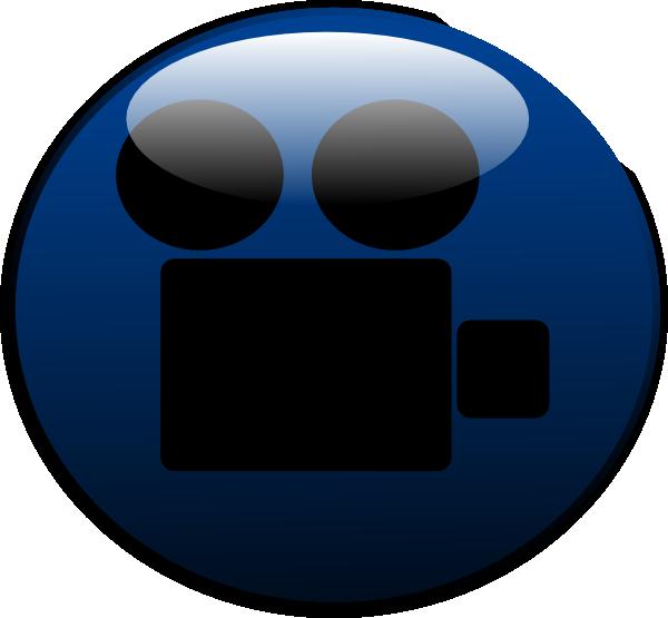 Film clipart audio video. Camera glossy icon clip