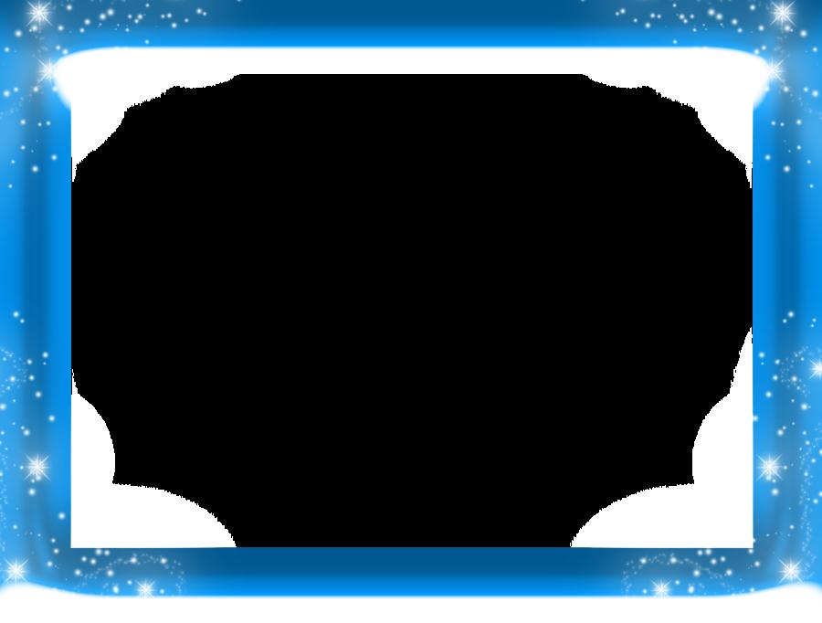 Blue border png transparent. Frozen clipart picture frame