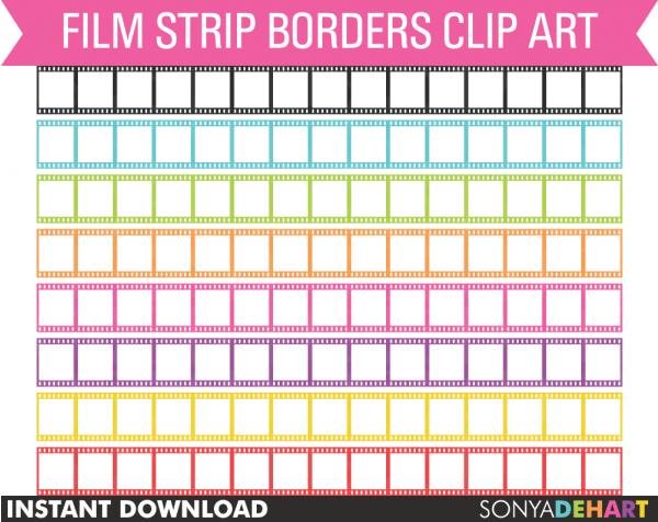 Strip luvly marketplace premium. Film clipart border design