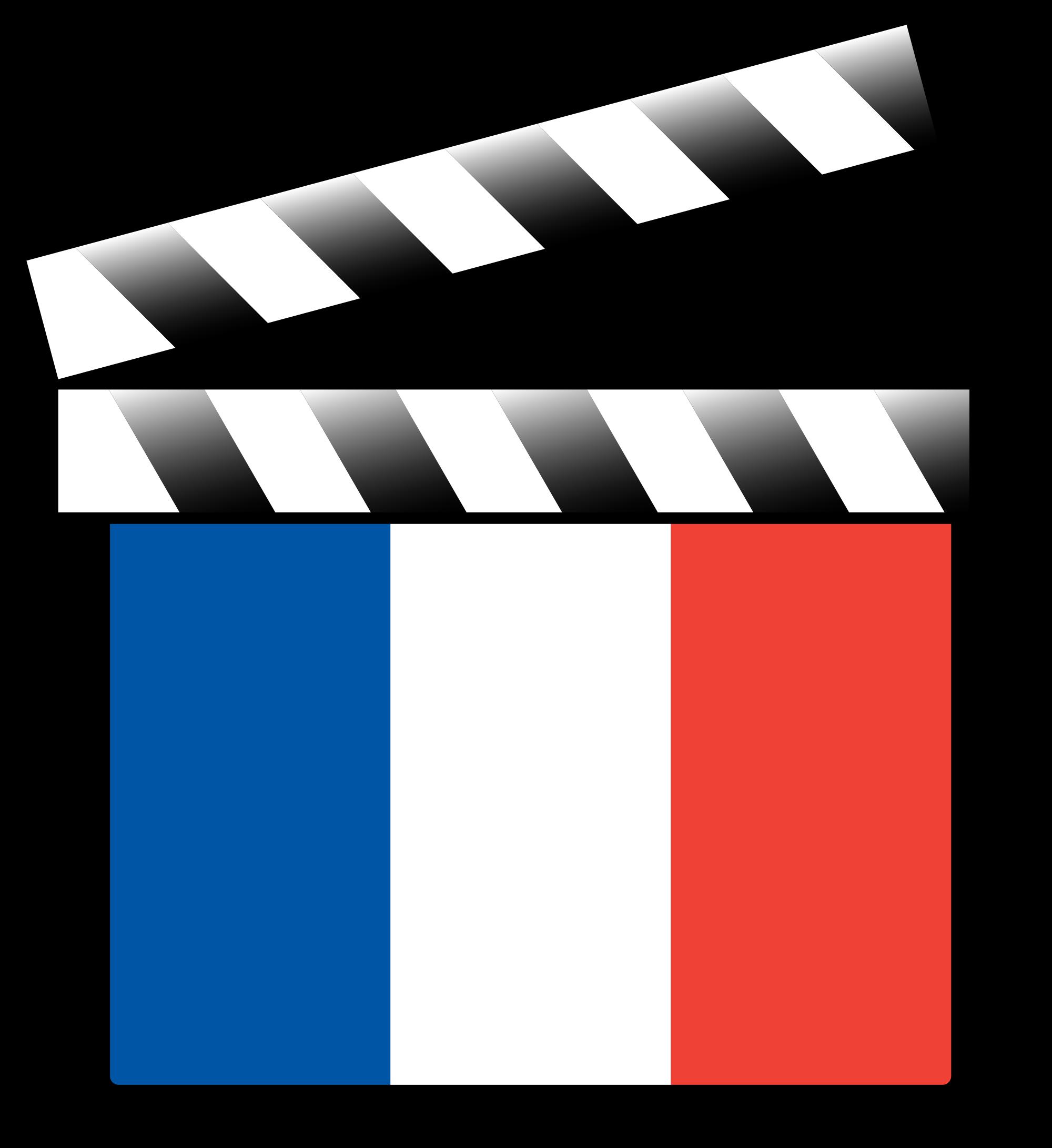Film clipart clap. File france clapperboard variant