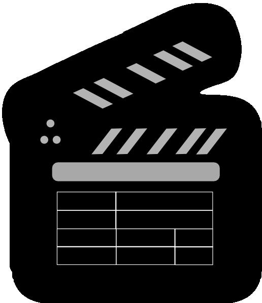 Movie clapper clip art. Film clipart clap board