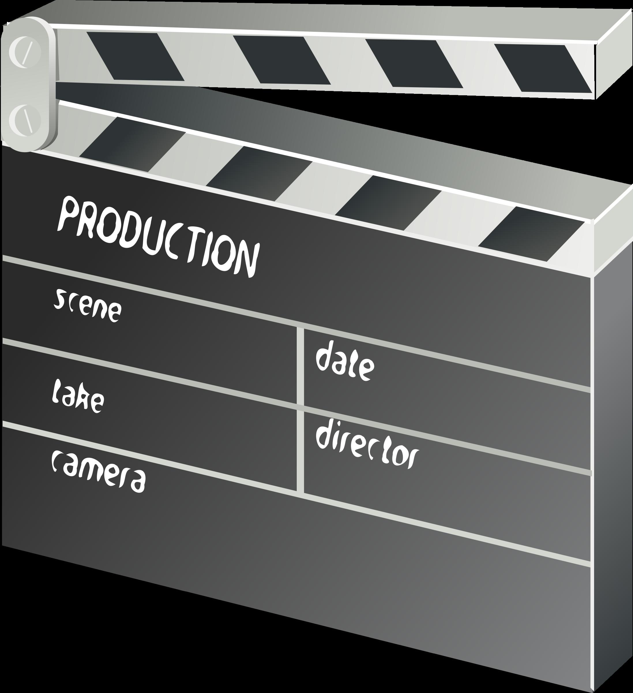 Film clipart clap board. Other movie clapper big