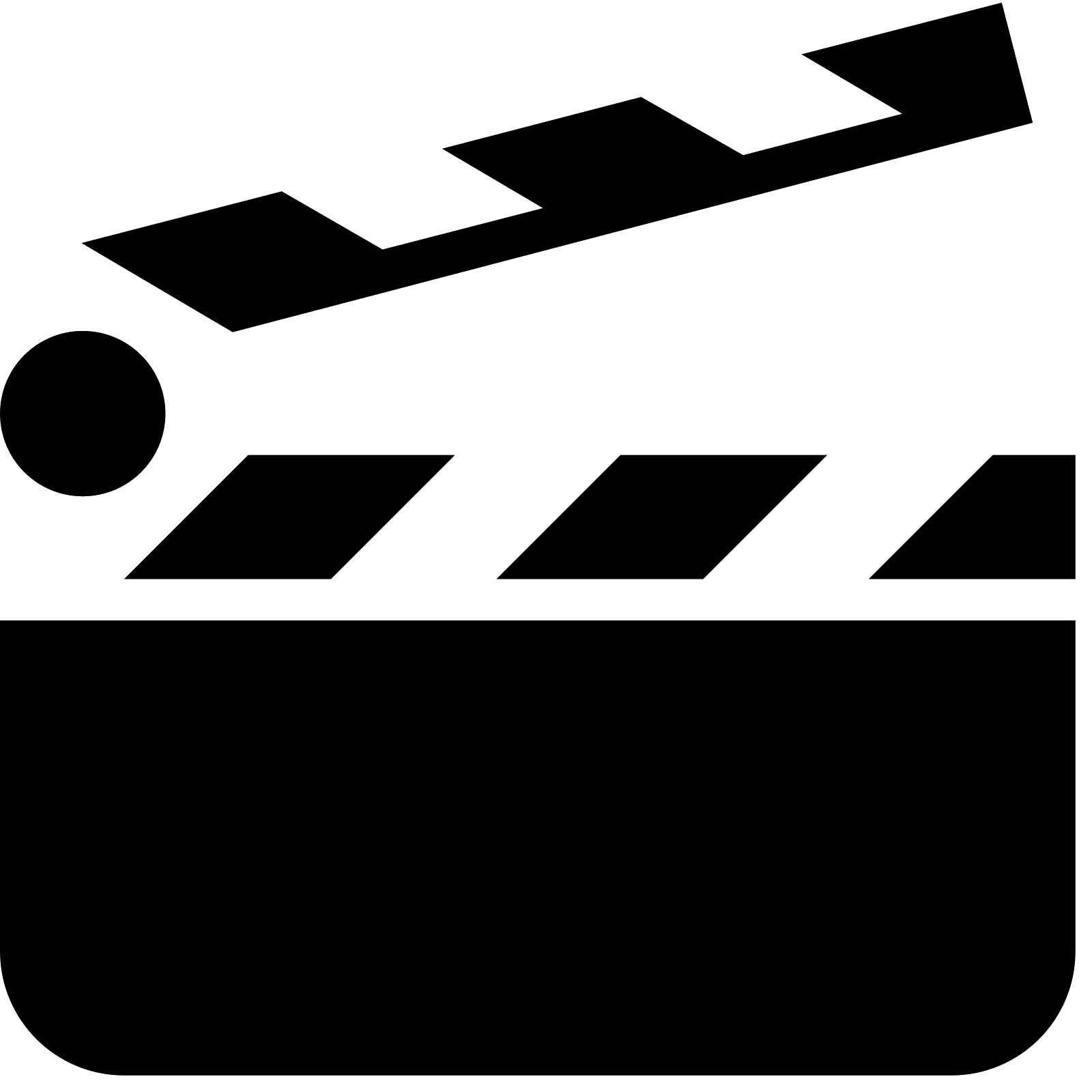 Clapperboard computer icons clip. Film clipart clapper board