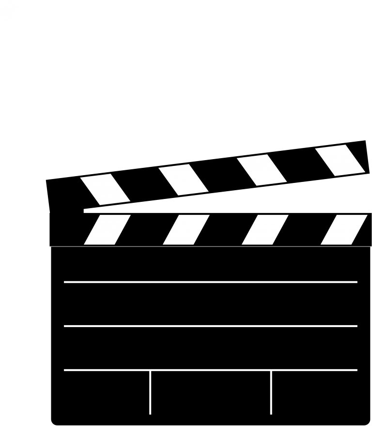 Film clipart clapper board. Download clapperboard free png
