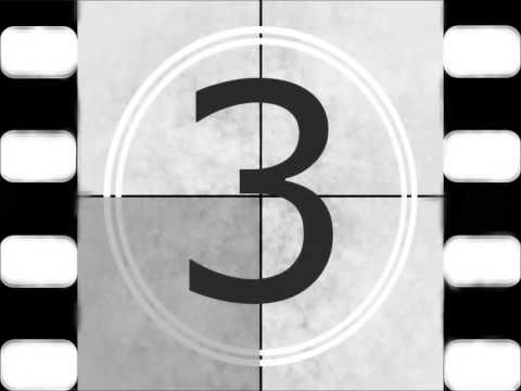 Film clipart countdown. Old movie timer youtube