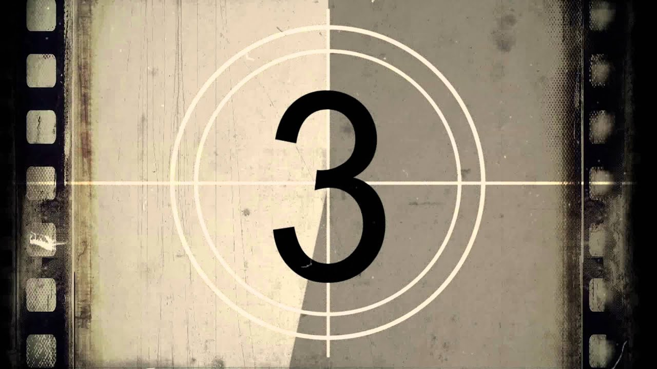 Clutter free hd transition. Film clipart countdown