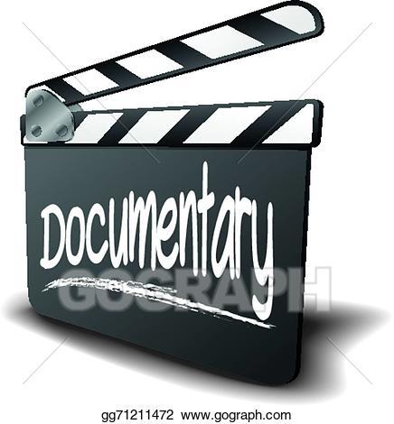 Film clipart documentary. Clip art vector clapper