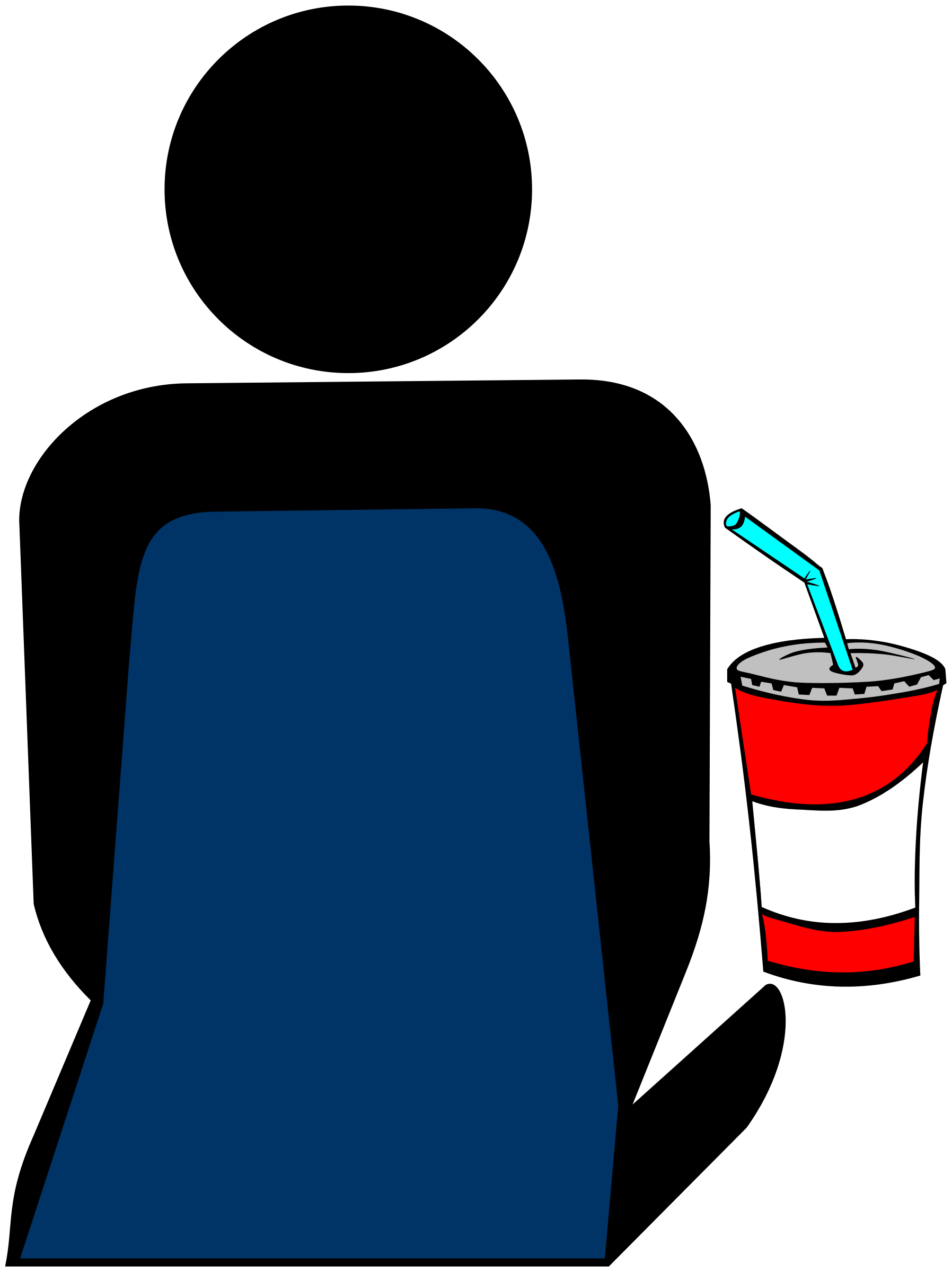 Film clipart drink. Cinema person with soft