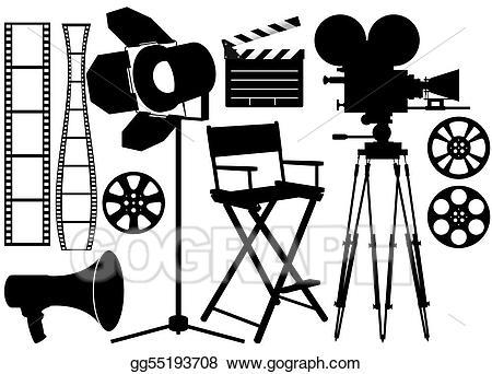 Stock illustrations . Film clipart film industry