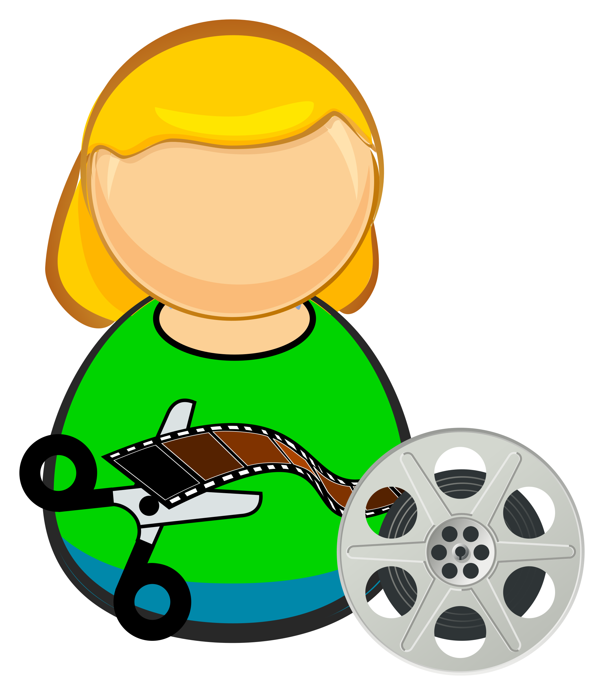 Editor big image png. Film clipart film role