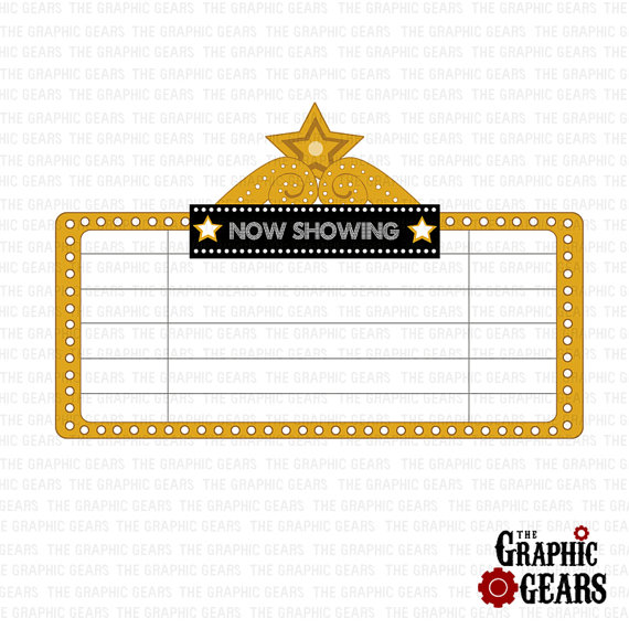 Free movie cliparts download. Hollywood clipart theatre marquee